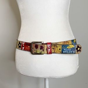 Fossil Beach Resort Belt Belt M Waves Babes Cocoa